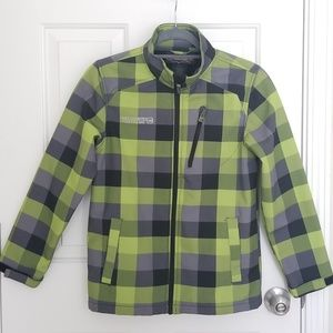 Free Country men's green checkered jacket size M